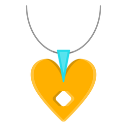 Necklace with heart pendant vector