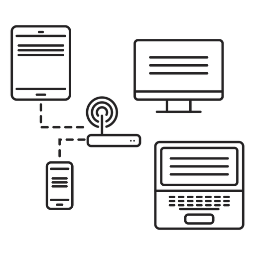 Ícone de conectividade de rede Transparent PNG