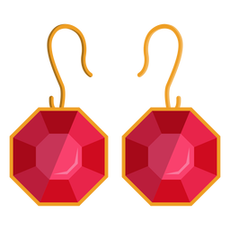 Octangon dangle earrings vector