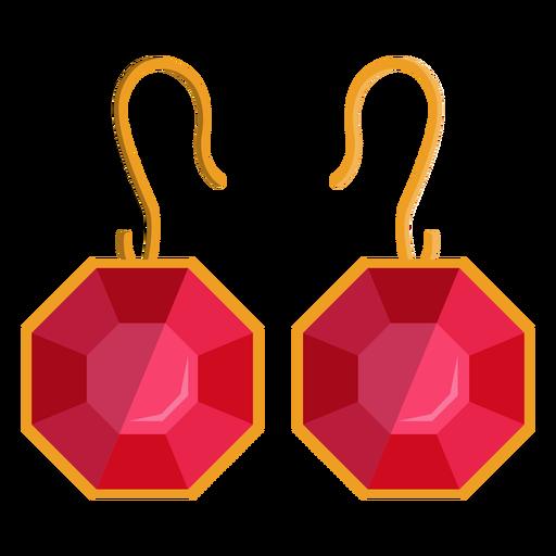 Octangon dangle earrings vector Transparent PNG