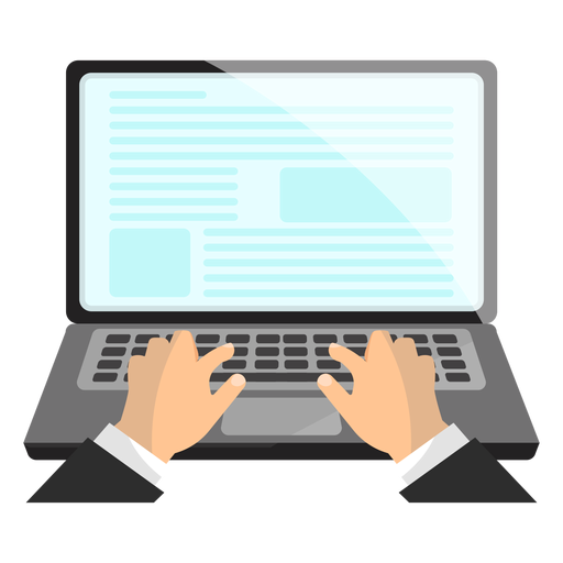 Office laptop icon Transparent PNG