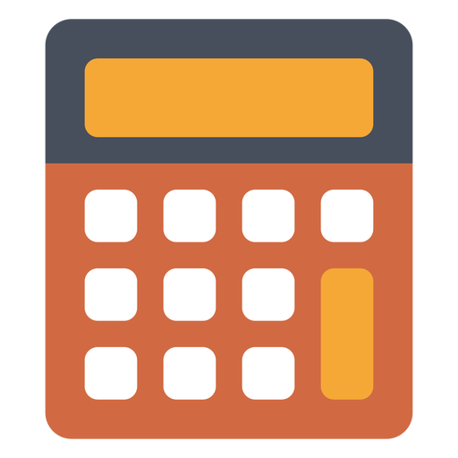 Old school calculator icon Transparent PNG