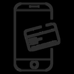 Ícone de pagamento on-line