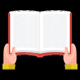 Vector de lectura de libro abierto