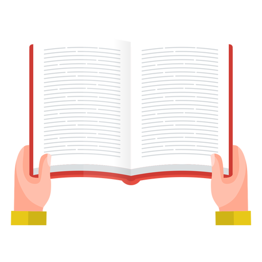 Open book reading vector Transparent PNG