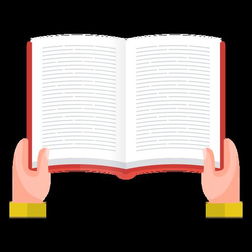 Vector de lectura de libro abierto Transparent PNG