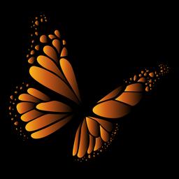Orange und schwarzer Schmetterlingsvektor