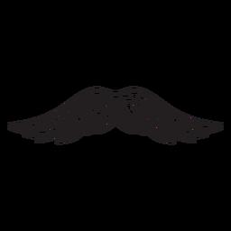 Pincel de pintor icono bigote