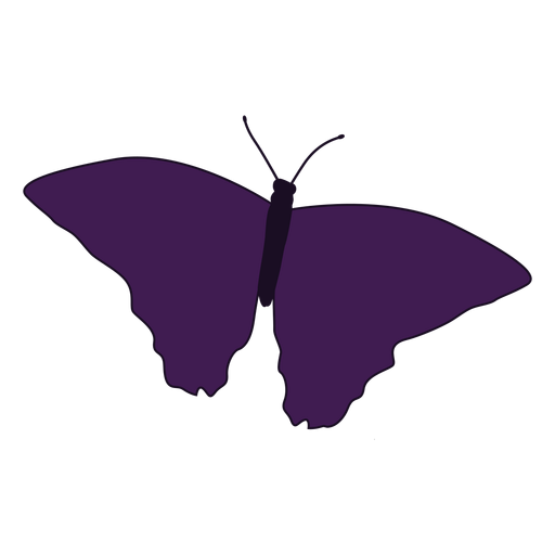 Patterned wing butterfly icon Transparent PNG