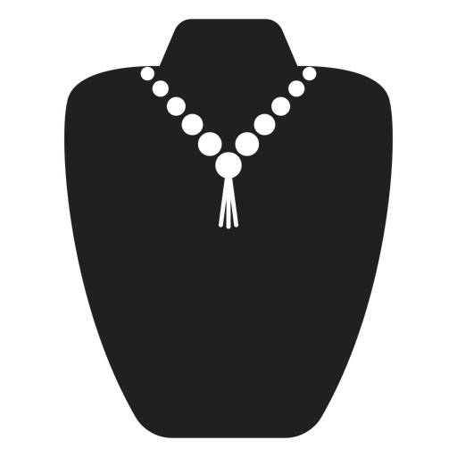 Pearl and tassel necklace icon Transparent PNG
