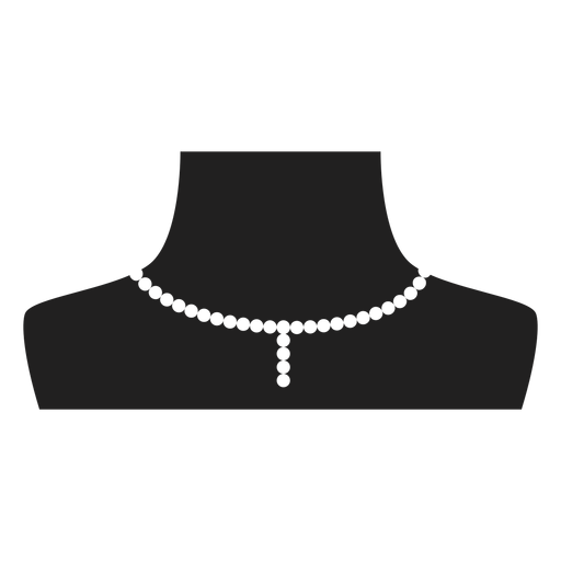 Pearl choker and pendant icon Transparent PNG