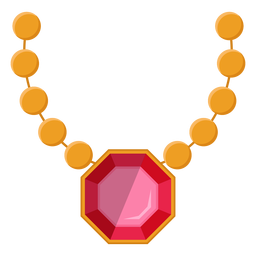 Pearl necklace with pendant vector