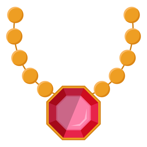 Pearl necklace with pendant vector Transparent PNG