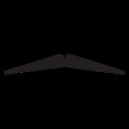 Ícone de bigode de lápis
