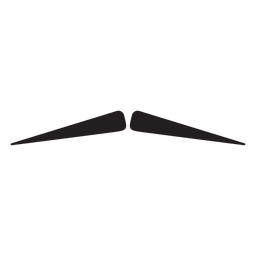 Icono de lápiz bigote