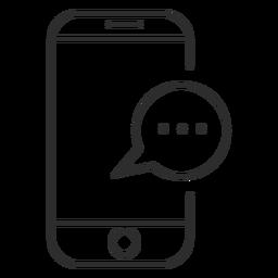 Ícone de comunicação do telefone