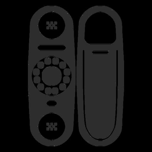Telefone com ícone de discagem rotativa Transparent PNG