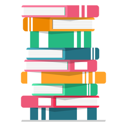 Pilha de livros vector