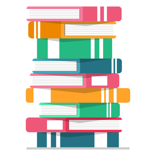 Pilha de livros vector Transparent PNG