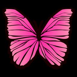 Diseño de mariposa rosa