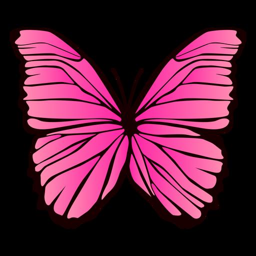Dise?o de mariposa rosa