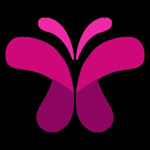 Ícone de borboleta rosa Transparent PNG