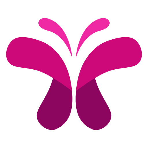 Rosa Schmetterling-Symbol Transparent PNG