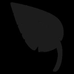 Icono de hoja puntiaguda negro