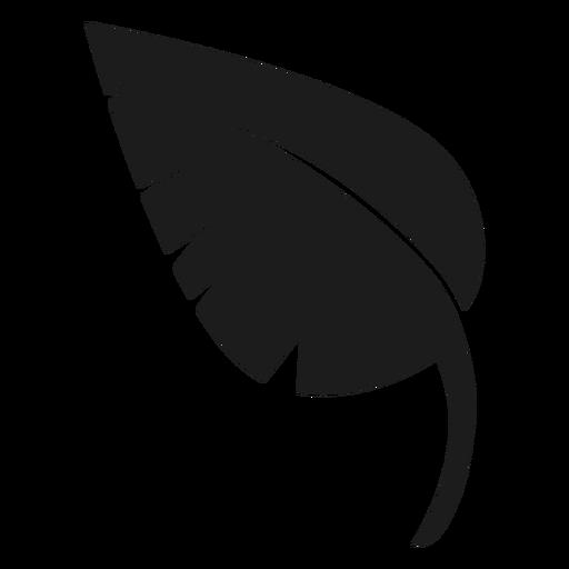 Icono de hoja puntiaguda negro Transparent PNG