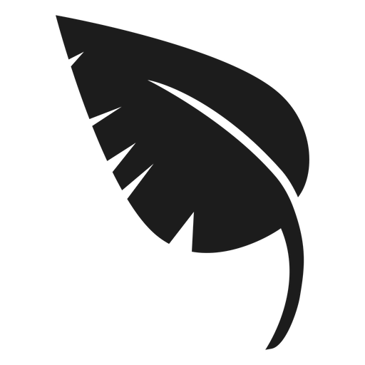 Pointed leaf black icon Transparent PNG