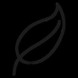 Icono de línea de hoja puntiaguda
