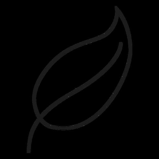 Icono de línea de hoja puntiaguda Transparent PNG