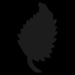 Lados en punta icono de hoja