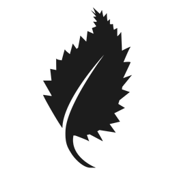 Pointed sides leaf icon