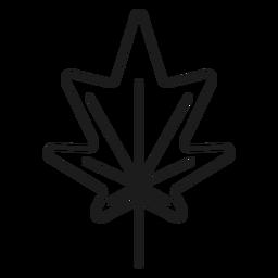 Lados en punta icono de estilo de hoja