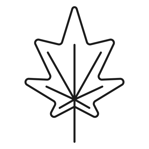 Pointed sides leaf style icon Transparent PNG