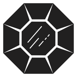 Icono de piedra preciosa negro