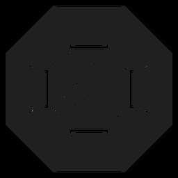 Pedra preciosa ícone preto