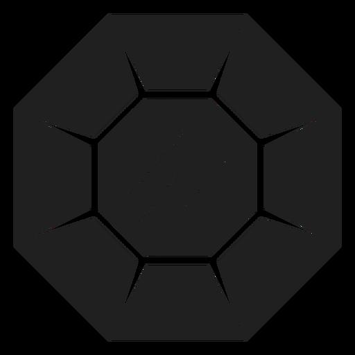 Icono de piedra preciosa negro Transparent PNG