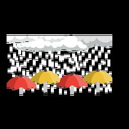 Vector de nube y paraguas de lluvia