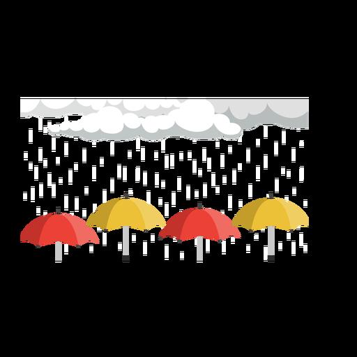 Rain cloud and umbrella vector Transparent PNG