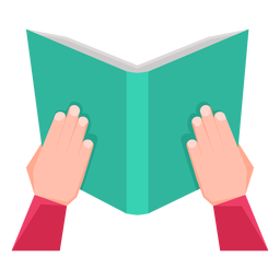 Reading a book vector