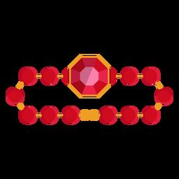 Ícone pulseira de cordão vermelho