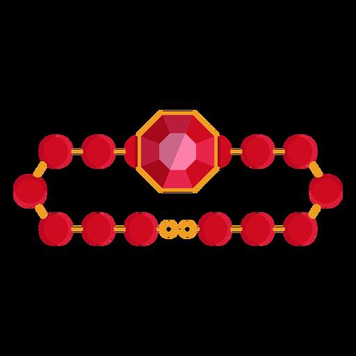 Ícone pulseira de cordão vermelho Transparent PNG