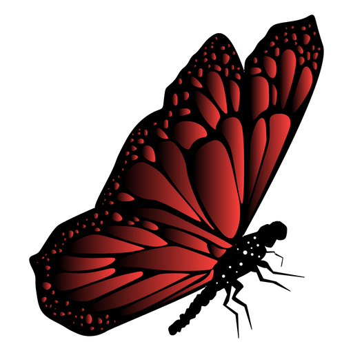 Red garden butterfly vector Transparent PNG