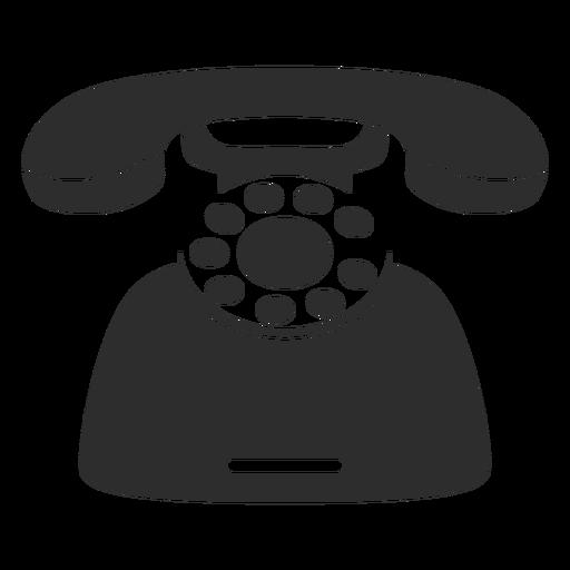 Retro deskphone icon Transparent PNG