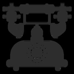 Icono de teléfono rotativo retro