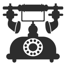 Retro rotary telephone icon