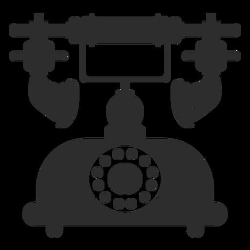 Ícone de telefone rotativo retrô Transparent PNG