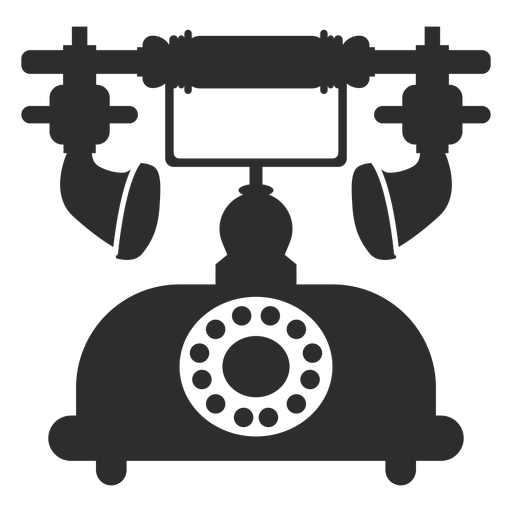 Retro rotary telephone icon Transparent PNG